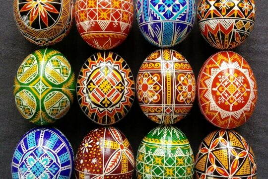 Patterned Colorful Eggs