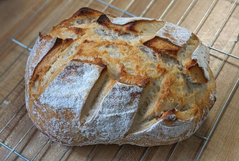 Fresh Home-Made Loaf of Bread