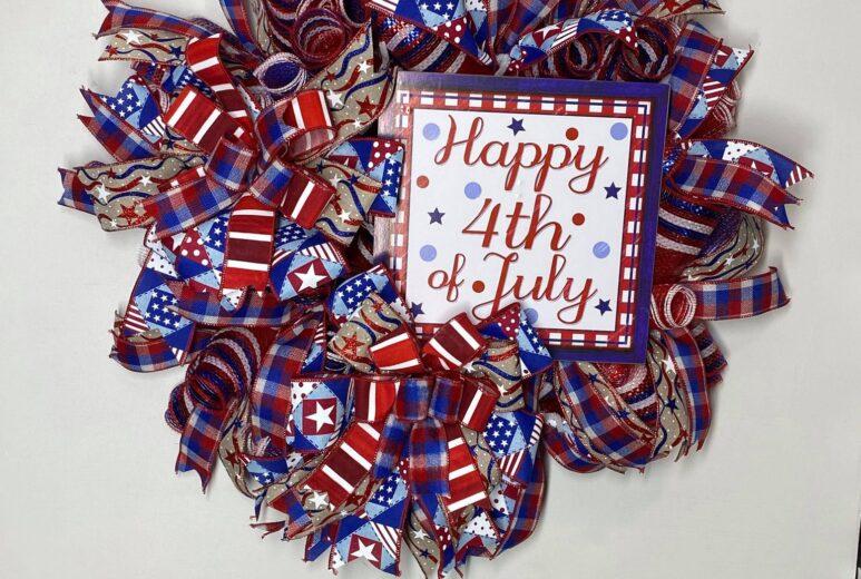 Happy 4th of July Door Wreath